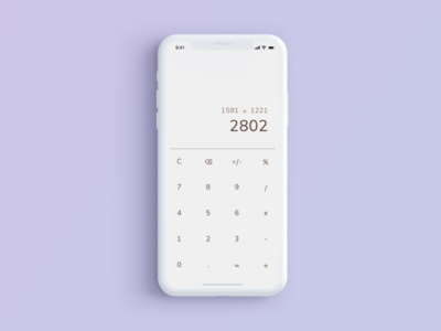 Daily UI: #004 — Calculator mobile user interface calculator typography  ui minimal classic flat daily concept 2d