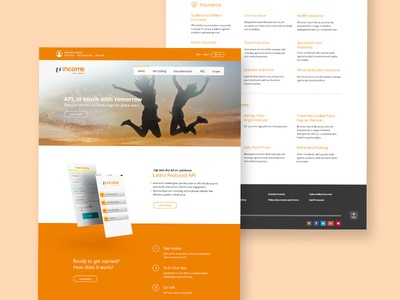 NTUC Income - API portal web ux user interface ui sign-up minimal daily ui portal finance 2d
