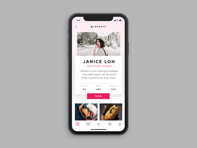 Daily UI: #006 — User Profile design iphonex mobile ux card user minimal concept daily daily-ui