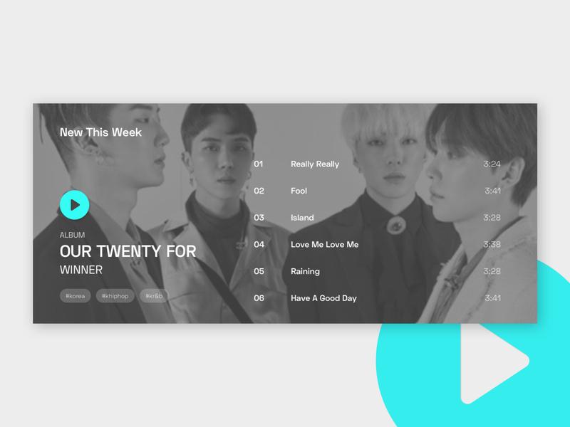 Daily UI: #009 — Music Player typogaphy daily ui music album music app music kpop concept user interface minimal ui daily