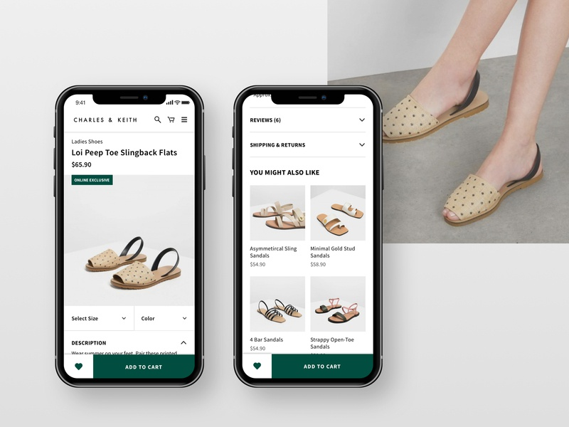 Daily UI: #012 — E-Commerce Shop / Charles & Keith product shop shoes fashion ux mobile flat user interface ui daily daily ui minimal