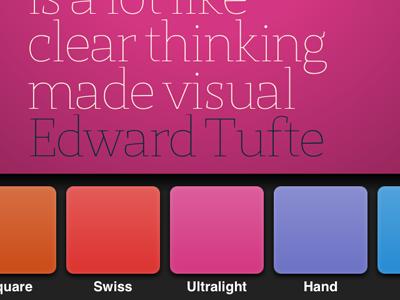 App Interface Design typography typedesign iphone app interface design