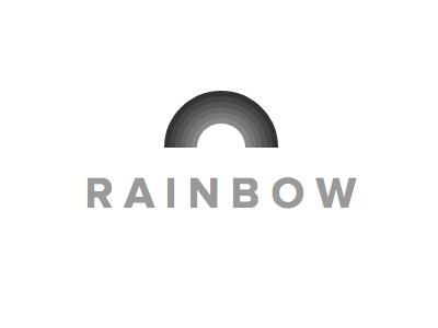 Rainbow Logo Sketch logo html5 hipster greyscale