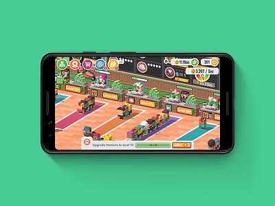 Idle Coffee Corp Game UI gaming coffee idle game interface ui game