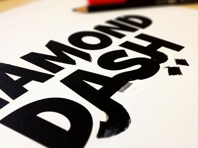 Diamond Dash Logo Sketch wooga logo sketch