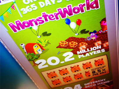 Infographic Monster World wooga infographic games