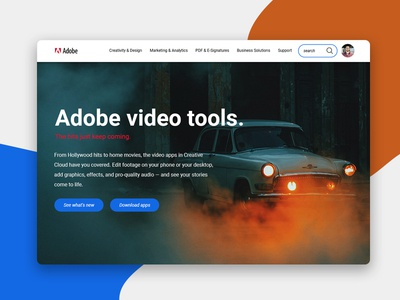 Adobe Home Page