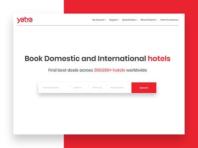Yatra Website re-design concept
