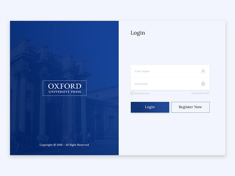 Oxford University Press Login page design clean college designer99studio download free psd creative login page psd oxford university login page design website oxford