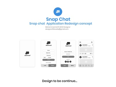 Snap chat Ux Design