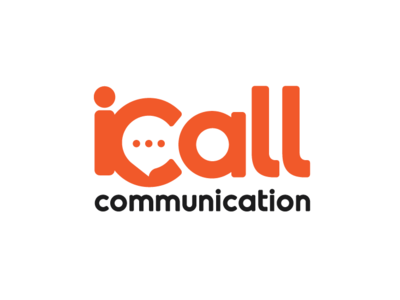 Icall communication callcenter communication design branding logo