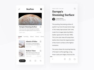 Redesign for Buzzfeed 🗞  Concept type minimal typography logo flat brand app ux ui design