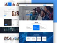 Finance Theme Website Design