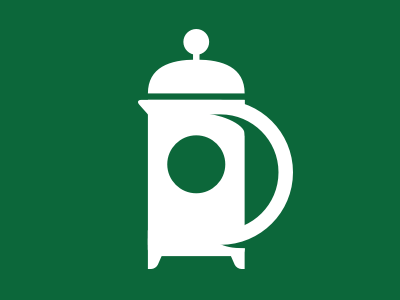 French Press Icon icon coffee