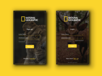 National Geographic Magazine Login Redesign (DailyUI #001) geographic design 001 national signup dailyui daily ui ux