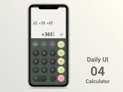 Daily UI #004 Calculator dailyui004 dailyui