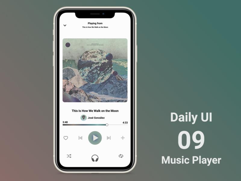 Daily UI #009 Music Player music player 009 daily ui dailyui