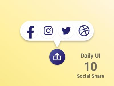 Daily UI #010 Social Share dailyui