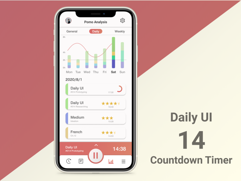 Daily UI #014 Countdown Timer ポモドーロ pomodoro countdown timer 014 daily ui dailyui