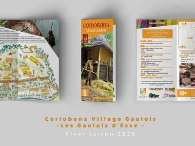 Flyer 2020 - Coriobona Village Gaulois flyer design gaulois communication flyer design