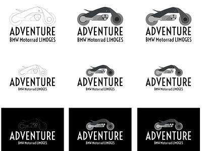Adventure BMW  Motorrad Limoges bmw adventure motorbike design vector branding illustration logo design logodesign logo