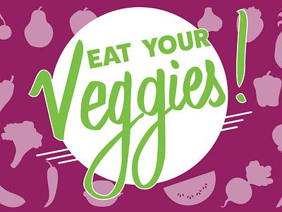 Eat your Veggies ! branding identity vegetables graphic design logo
