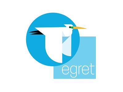Egret logo design icon vector concepts illustration logo identity branding typography logos