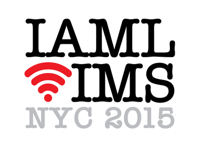IAML/IMS NYC Conference Logo technology conference music typography logo logos