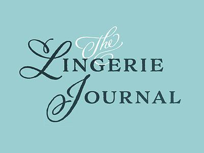 Typographic logo for The Lingerie Journal color typography branding logos logo
