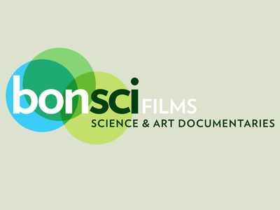 BonSci Films logo and identity (approved version) motion animation green identity color. logo documentary film