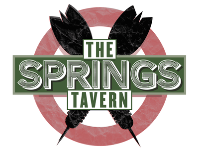 Springs Tavern Darts Logo typography logos retro illustration