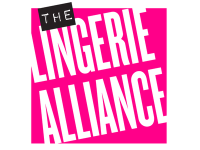 Lingerie Alliance logo/identity social media boxes box angled punk lingerie pink magenta logos