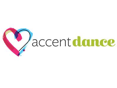 Accent Dance Logo non-profit calligraphy logo color branding logos