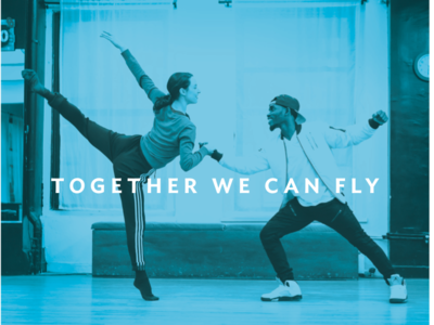 Accent Dance Title Treatment identity design branding color typography nonprofit dance
