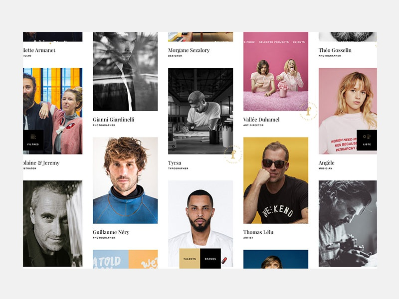 Fubiz Studio - Grid talents design portfolio photography grid layout grid design fubiz talents grid