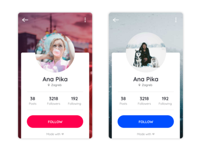 Daily UI - Day 006 - User Profile