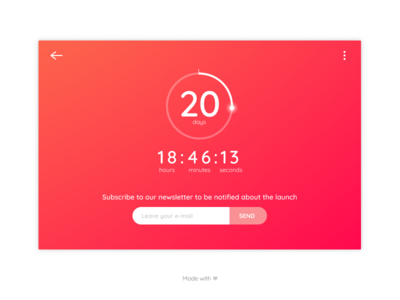 Daily UI - Day 014 - Countdown