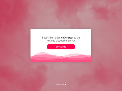 Daily UI - Day 016 - Pop Up form subscribe web overlay popup flat ui  ux minimal dailyui challenge