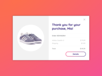 Daily UI - Day 017 - Email Receipt