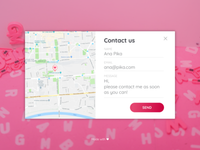 #028 - Daily UI - Contact Us