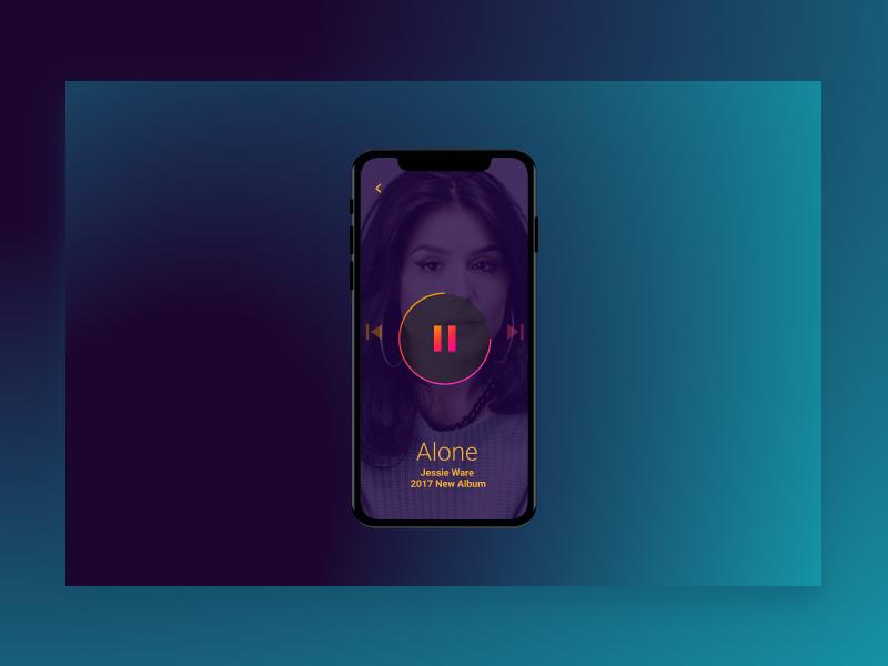 Daily UI - Day 009 - Music Player purple 009 music daily ui challange