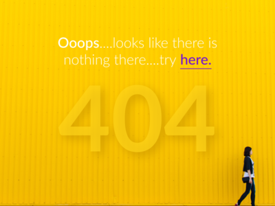 Task #008 for Daily UI challenge, 404 Page