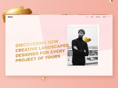 Bridge Demo - Pink Agency agency gold creative portfolio theme wordpress