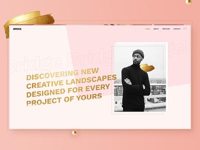 Bridge Demo - Pink Agency agency gold creative portfolio theme wordpress
