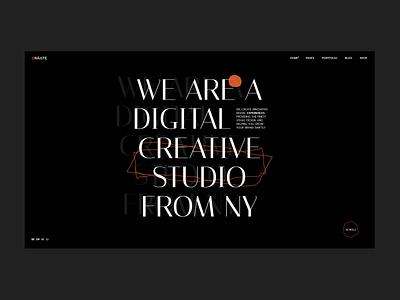 Oráiste design studio dark creative agency design modern portfolio creative theme wordpress web design