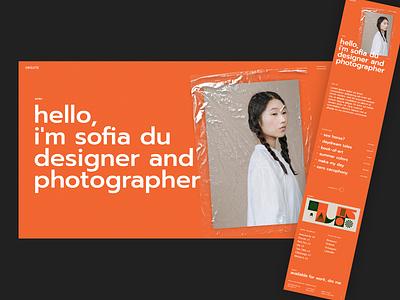 Oráiste clean personal portfolio design orange modern portfolio creative theme wordpress