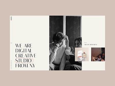 Oráiste scroll horizontal design clean modern portfolio creative theme wordpress