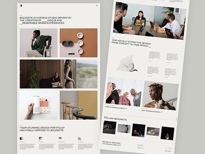 Boldnote - Agency Light agency theme design clean modern creative portfolio wordpress website