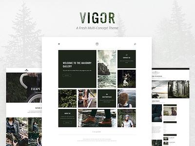 Vigor vintage shop portfolio lifestyle elegant design clean blog art edge-themes theme wordpress