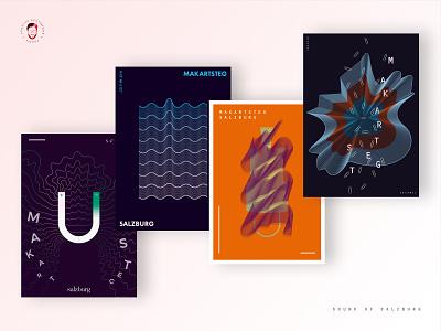 Sound Of Salzburg - Final Results print poster illustrator austria vector linestyle design illustration blend